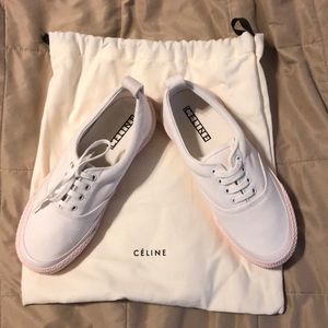 Celine white and light pink sneakers